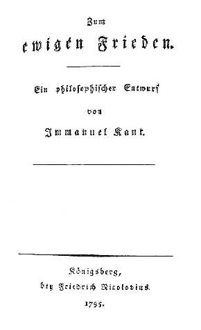 immanuel kant 1795 essay perpetual peace